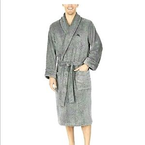 TOMMY BAHAMA Plush Robe Belted Wrap with Pockets